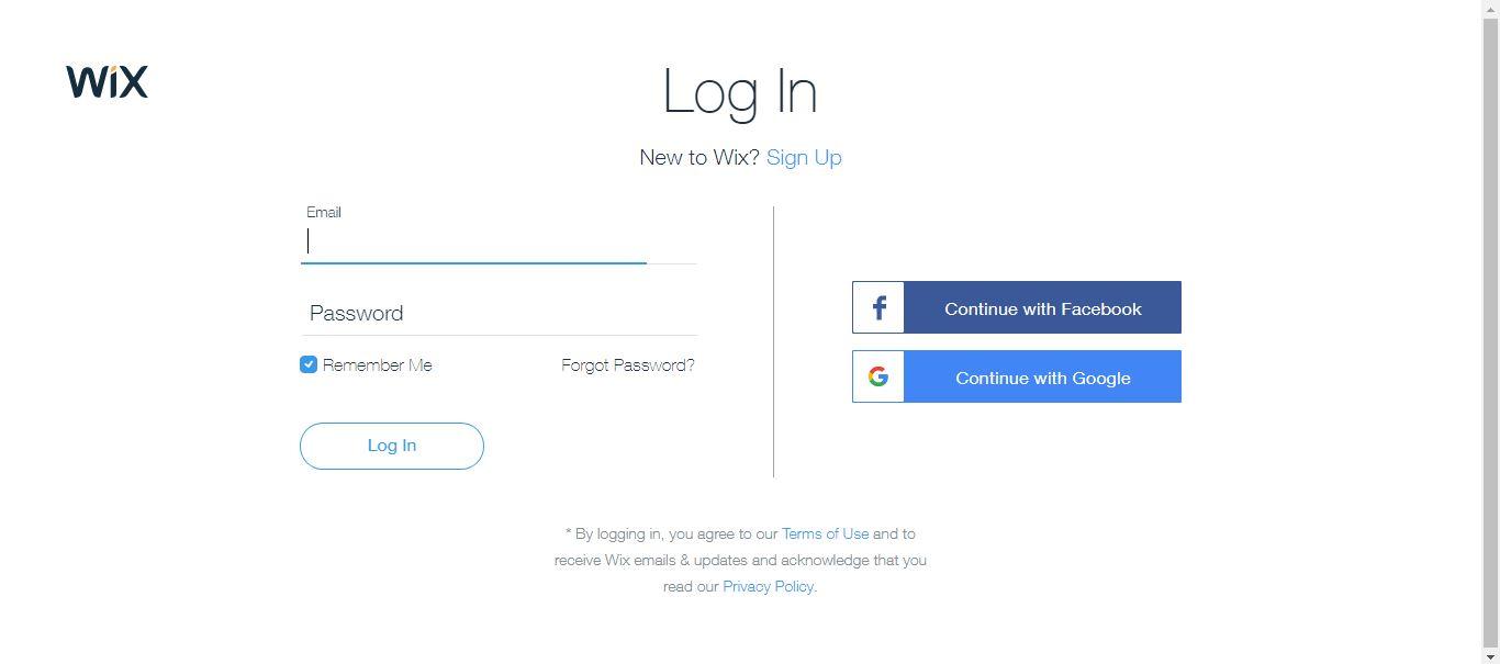 wix account info
