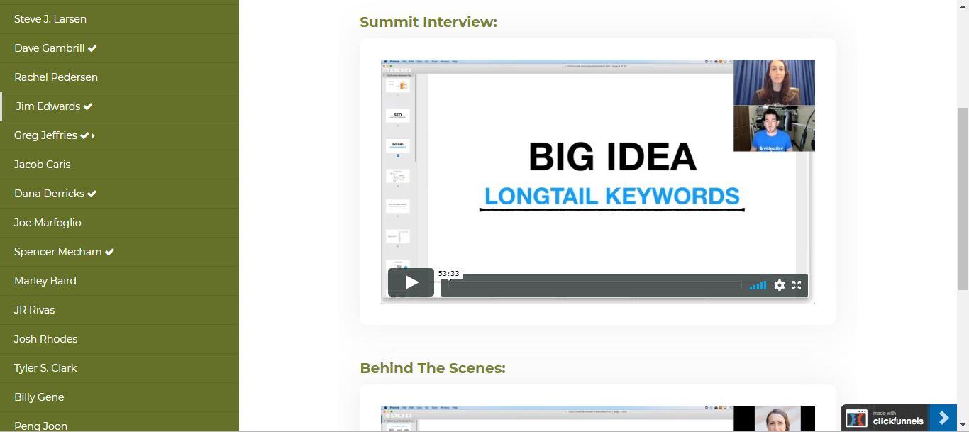 greg jeffries affiliate bootcamp by clickfunnels video