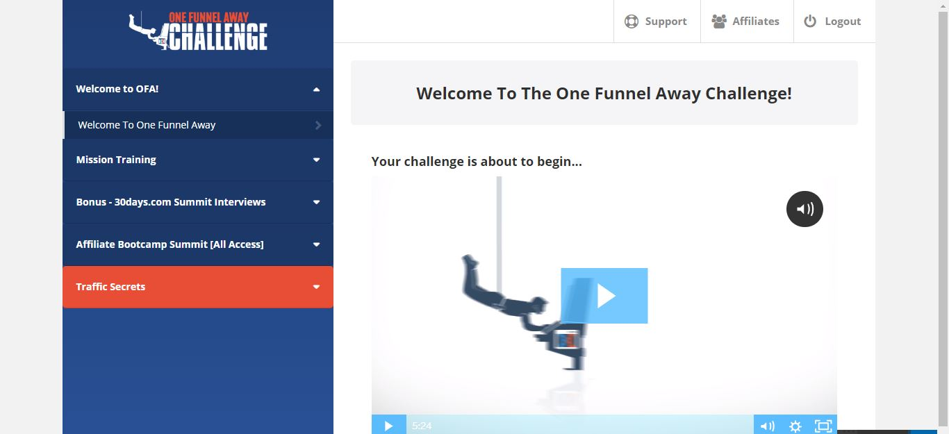 one funnel away challenge training