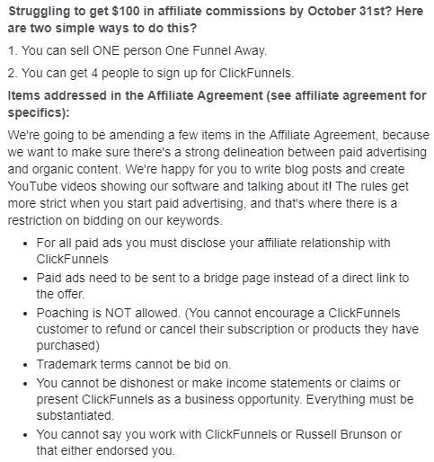 clickfunnels affiliate commission changes