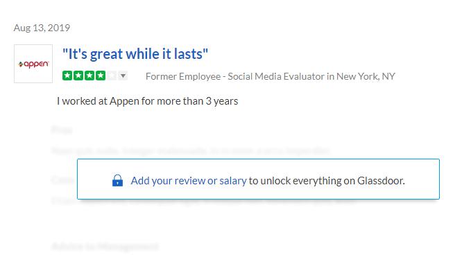 appen reviews from glassdoor