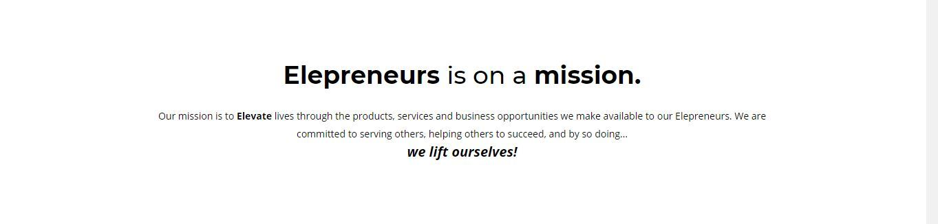 Elepreneurs mission statement