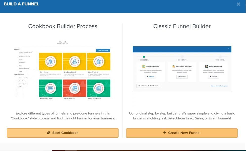 create a funnel inside clickfunnels
