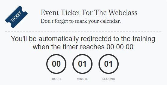 funnel scripts webinar countdown timer
