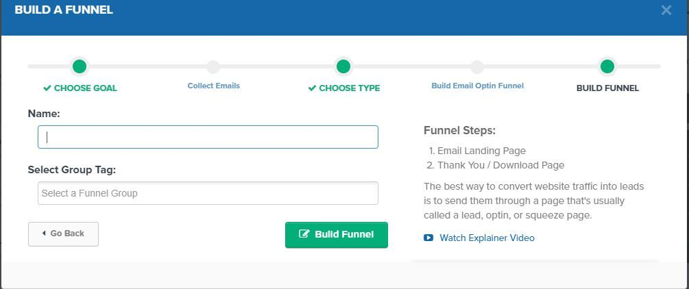 building a click funnel