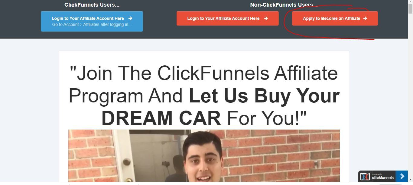 clickfunnels affiliate application