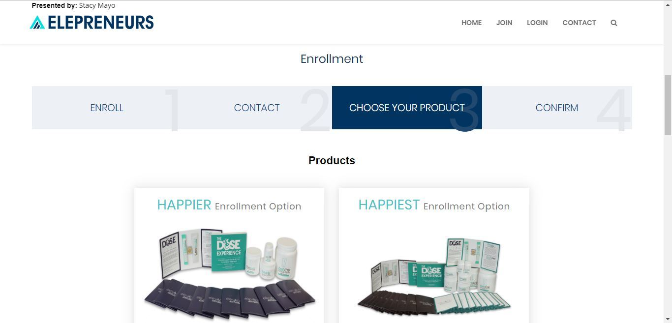 elepreneurs select your product
