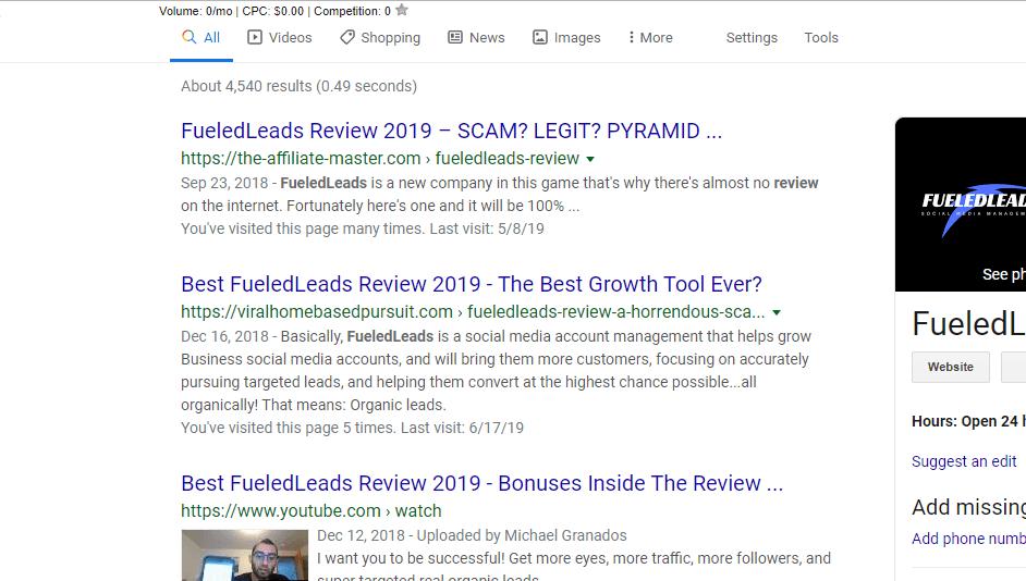 google page 1 rankings