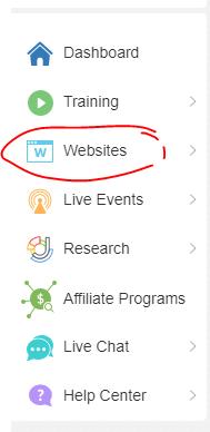 wealthy affiliate website tab