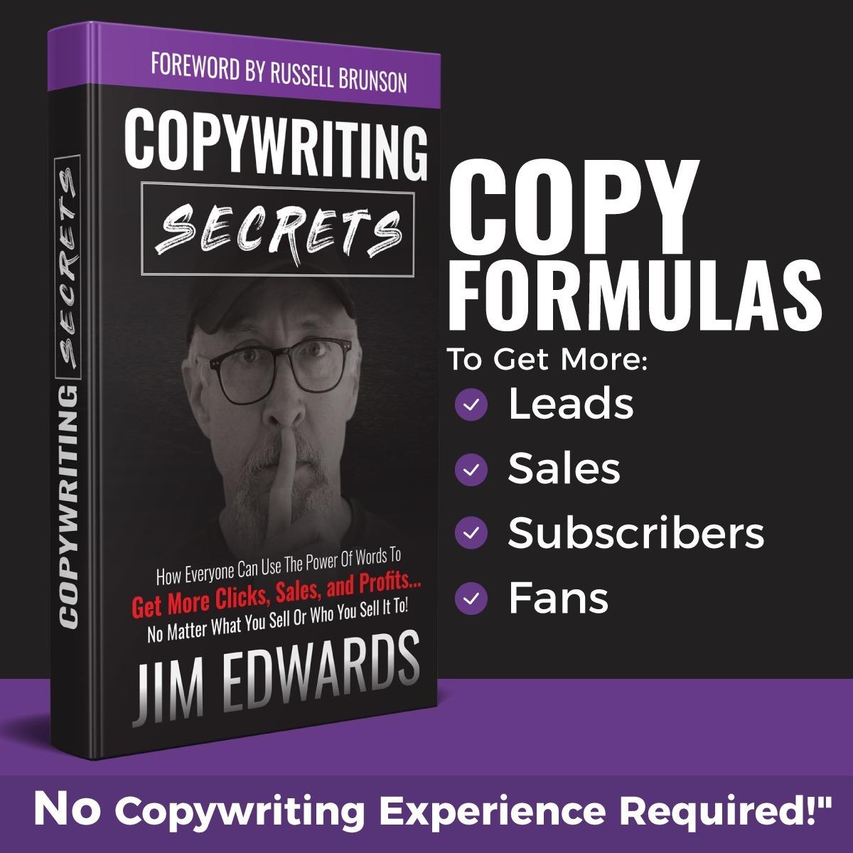 copywriting secrets free book by Jim Edwards
