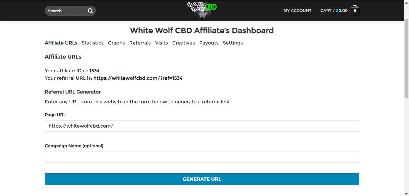 white wolf cbd affiliate referral links