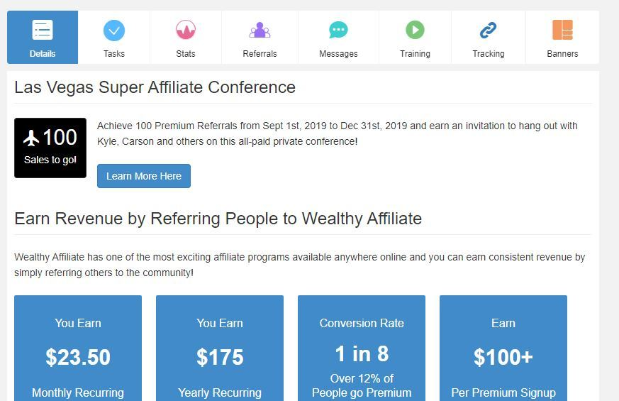 wealthy affiliate recurring income