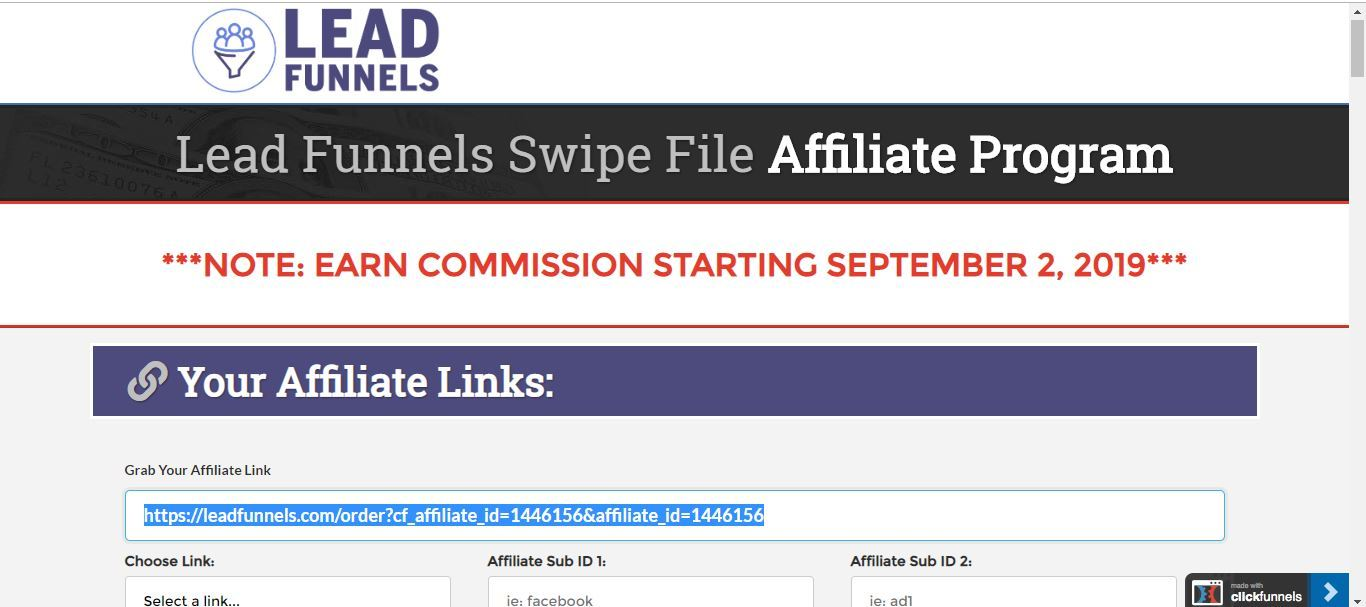 lead funnels from clickfunnels