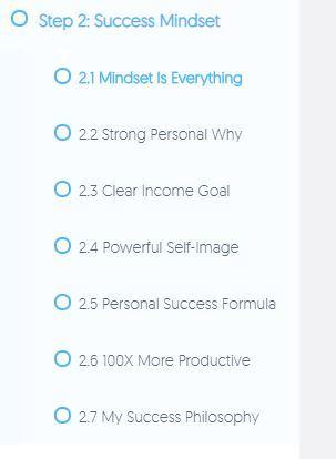 success mindset my online startup