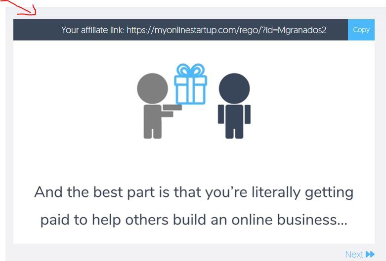 my online startup affiliate link