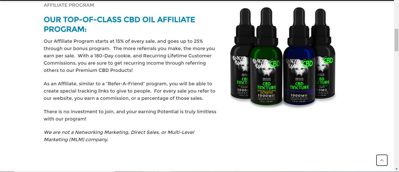 white wolf cbd affiliate program