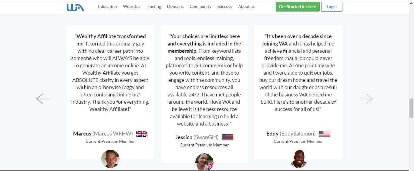 wealthy affiliate great reviews