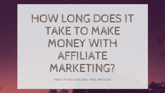 affiliate marketing start