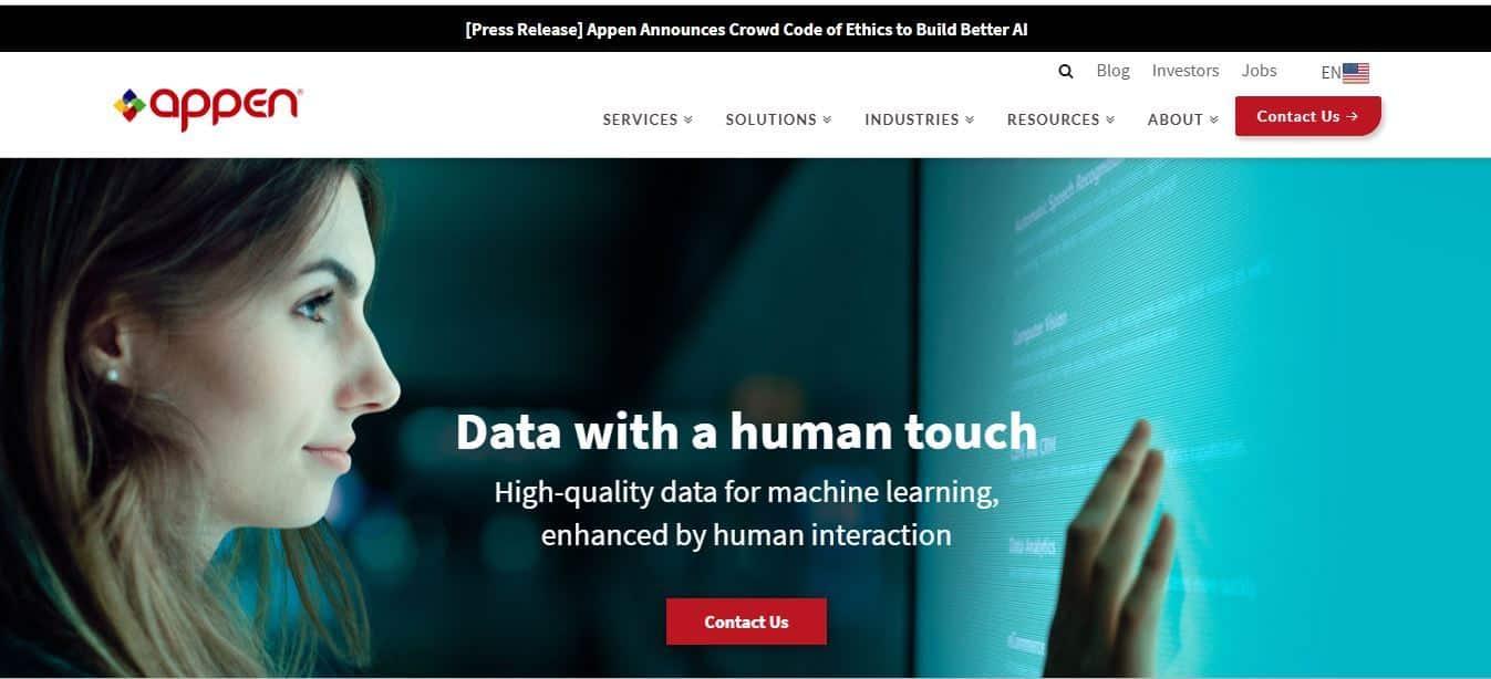 appen home page