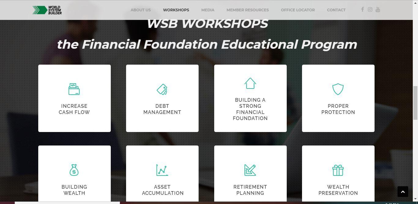 world system builder workshops