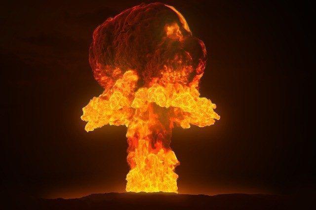 blown up