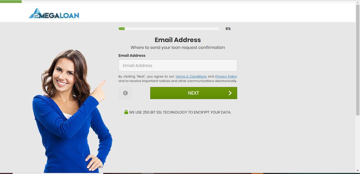 my mega loan email address