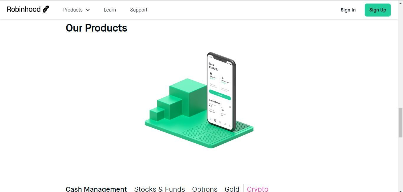 robinhood products