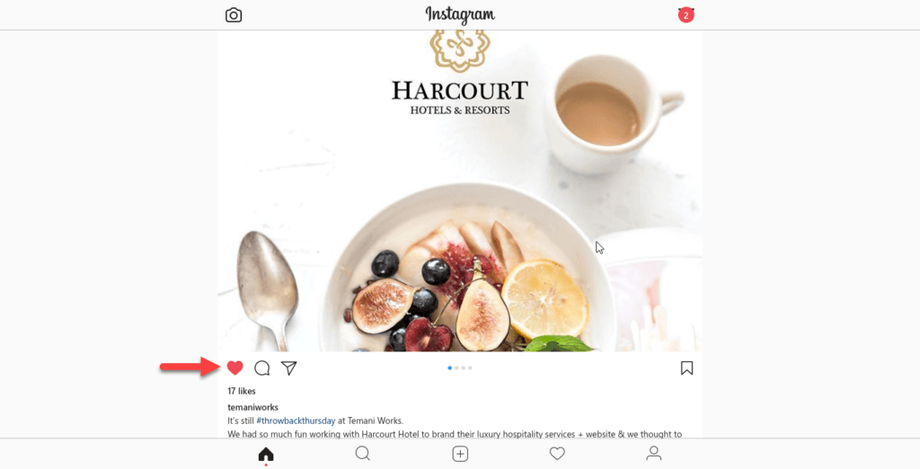 surfing Instagram newsfeeds