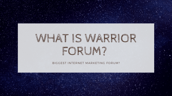 warrior forum