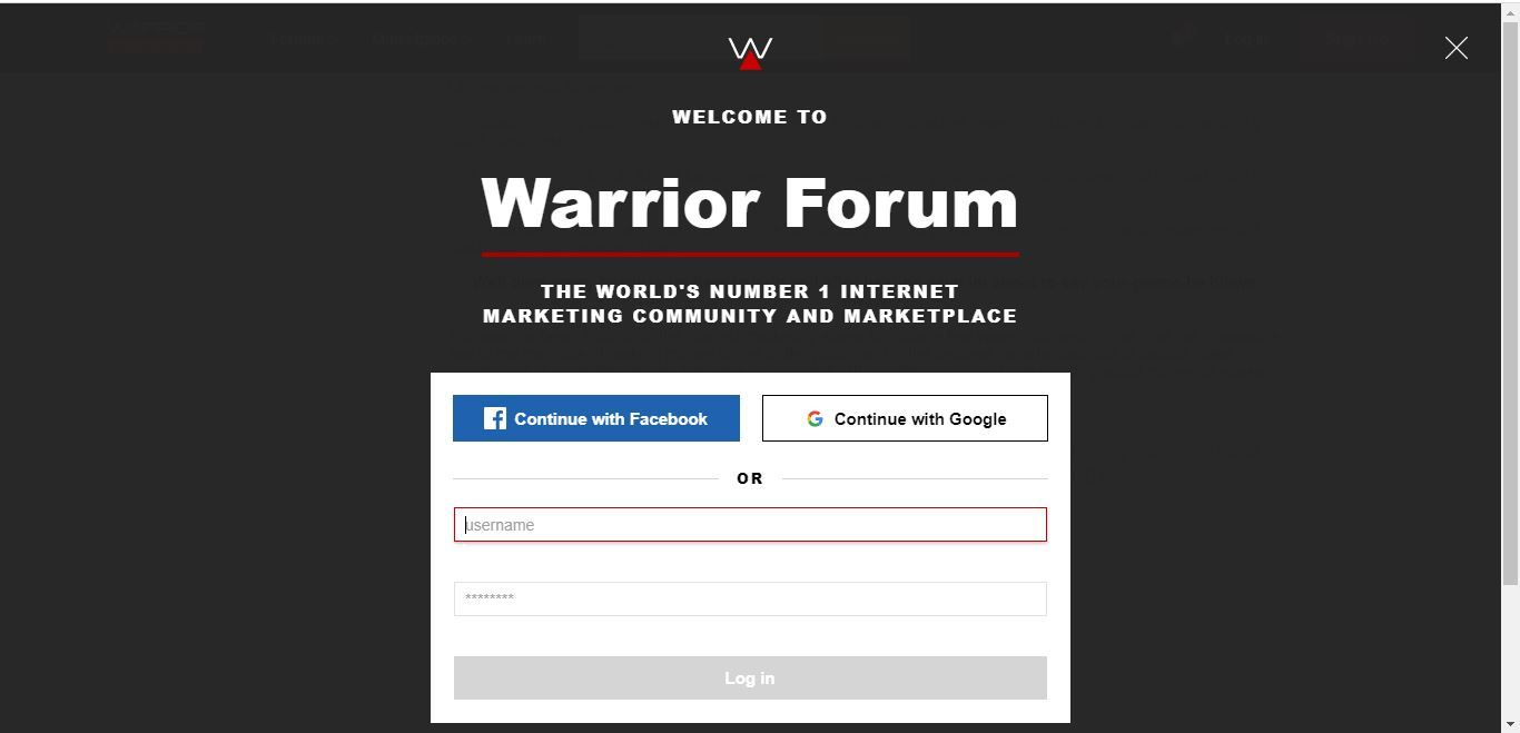 warrior plus login