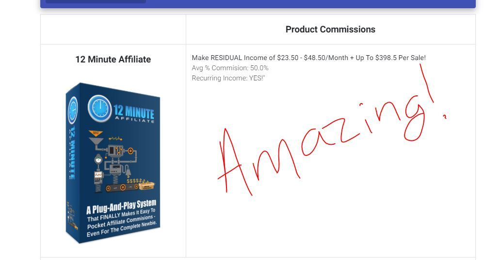 12 minute affiliate commissions