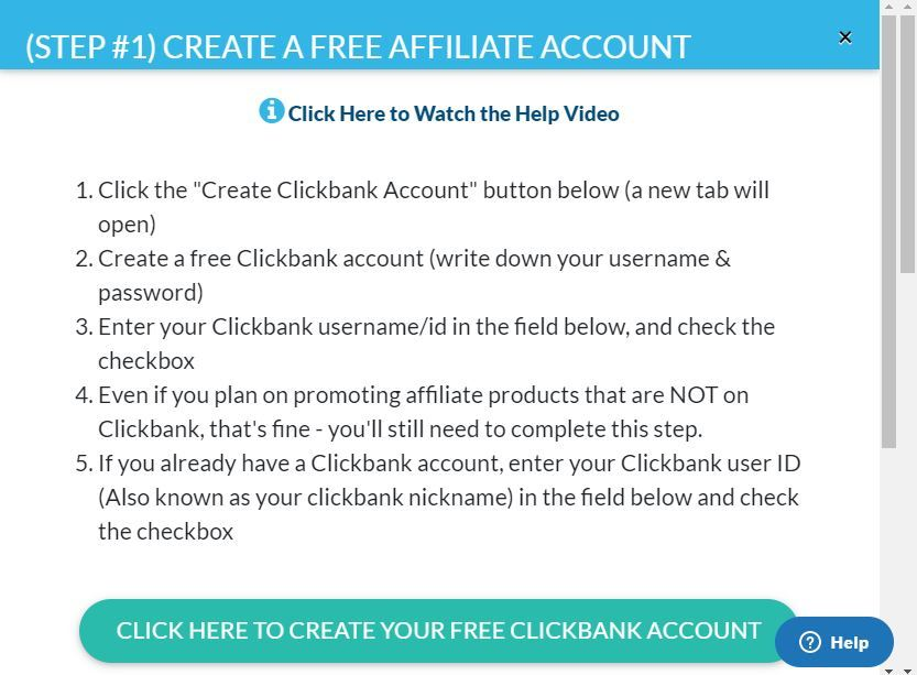 12 minute affiliate create account