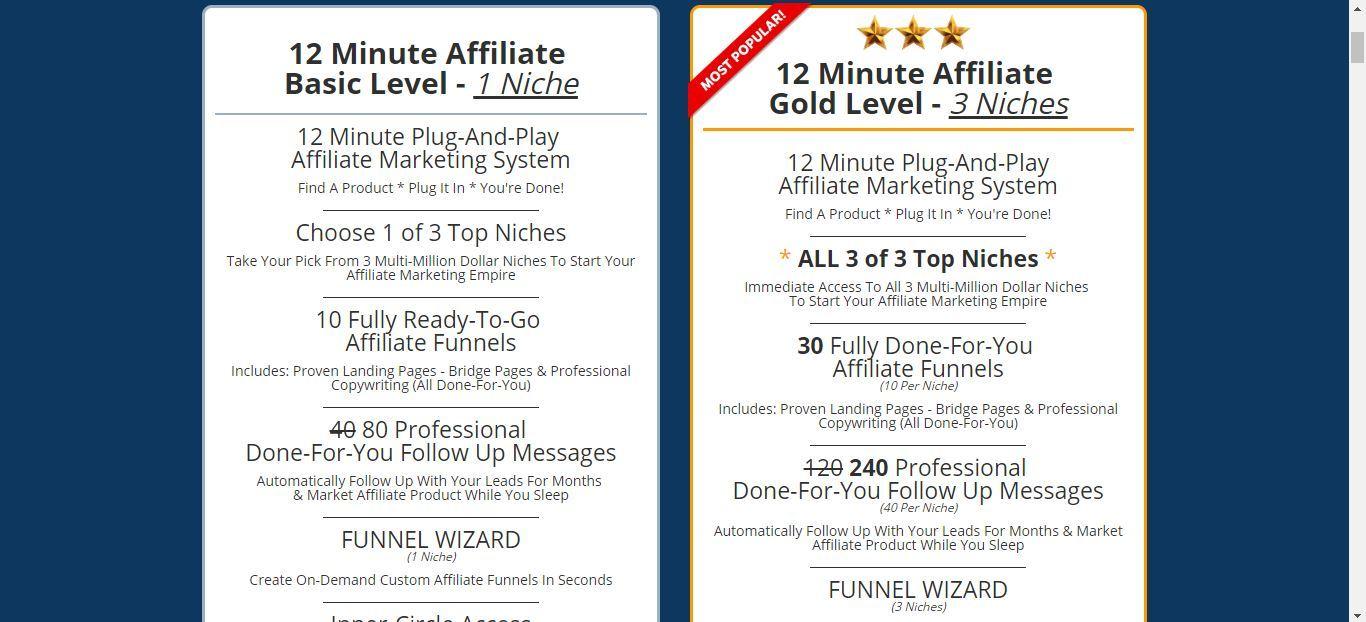 12 minute affiliate memberships