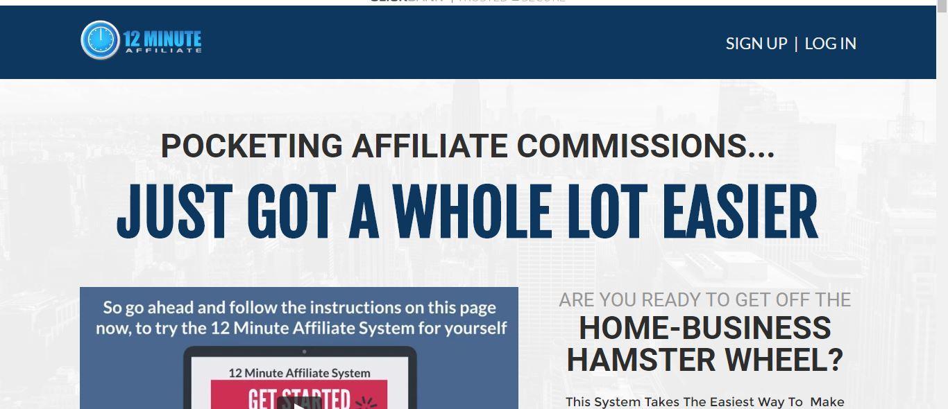 12 minute affiliate signup