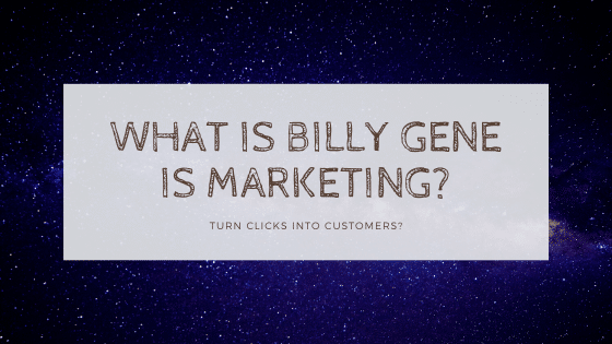 billy gene is marketing