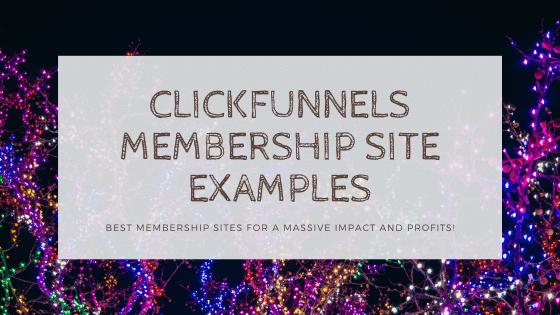 CF membership site examples
