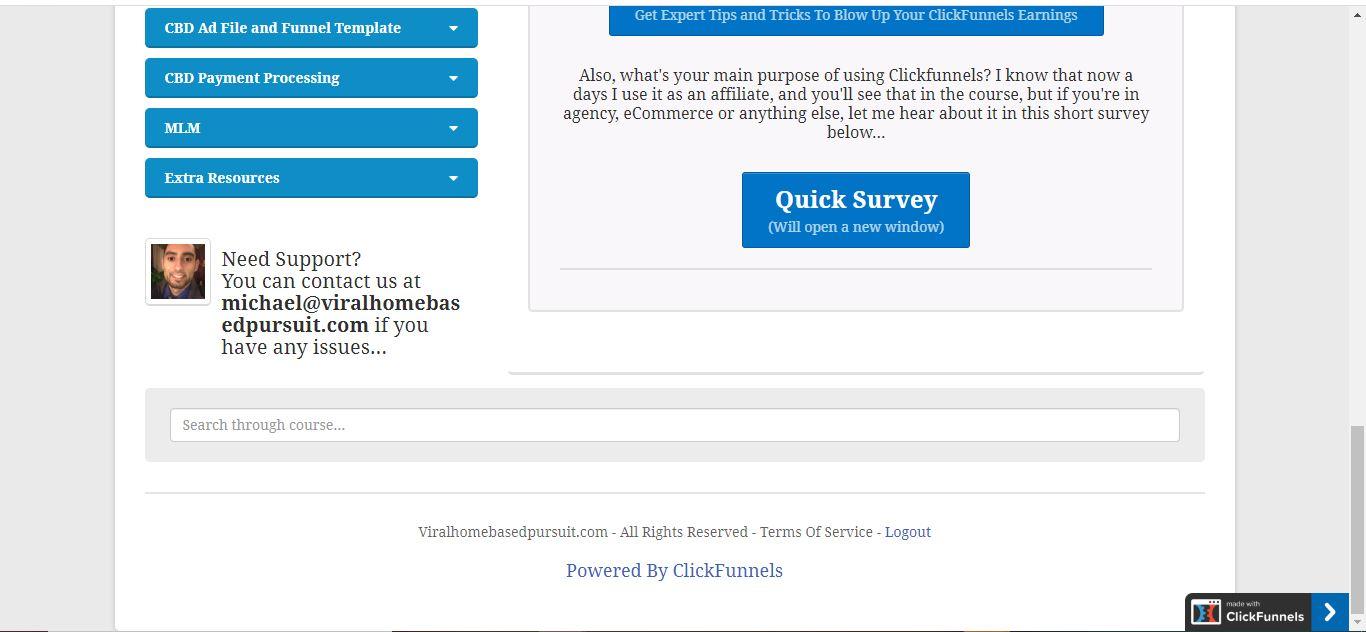 clickfunnels membership footer