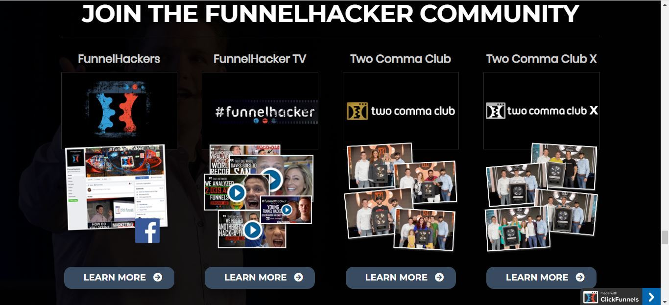 funnel hacker community