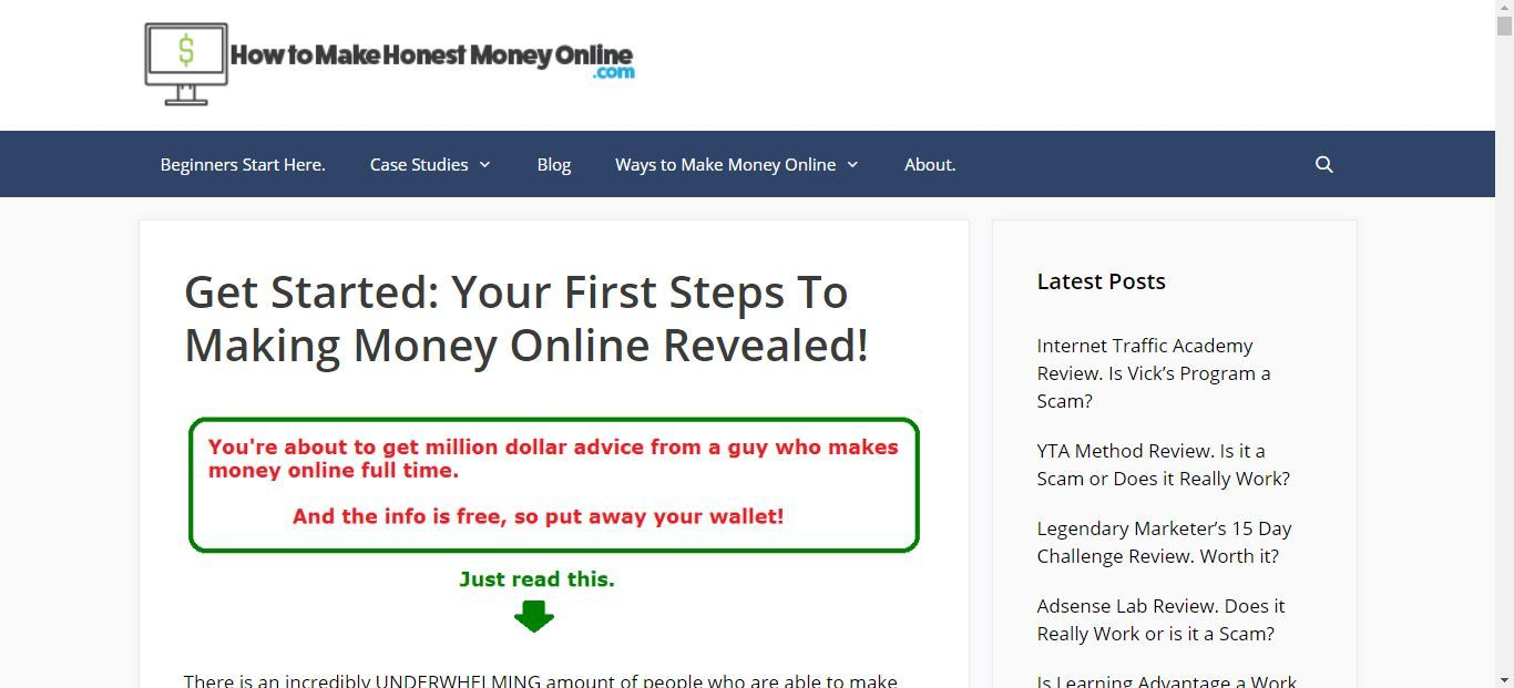 honest online money
