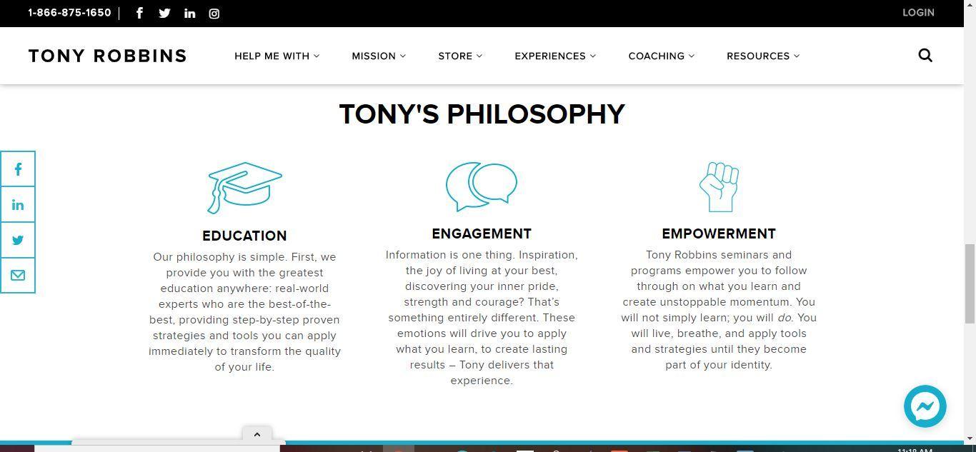 ton'y philosophy