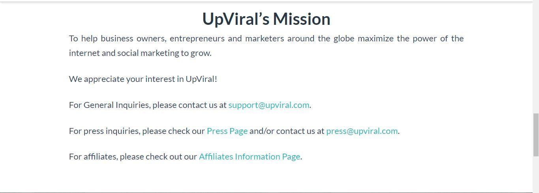 upviral mission statement