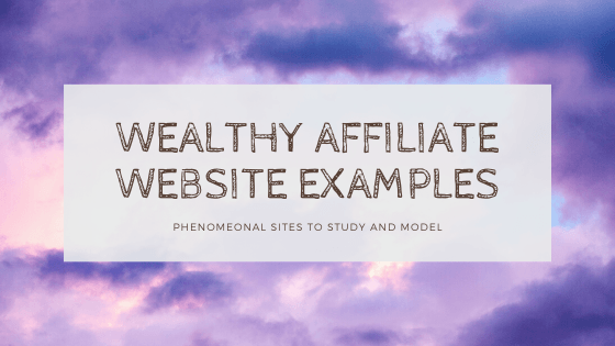 wealthy affiliate website examples