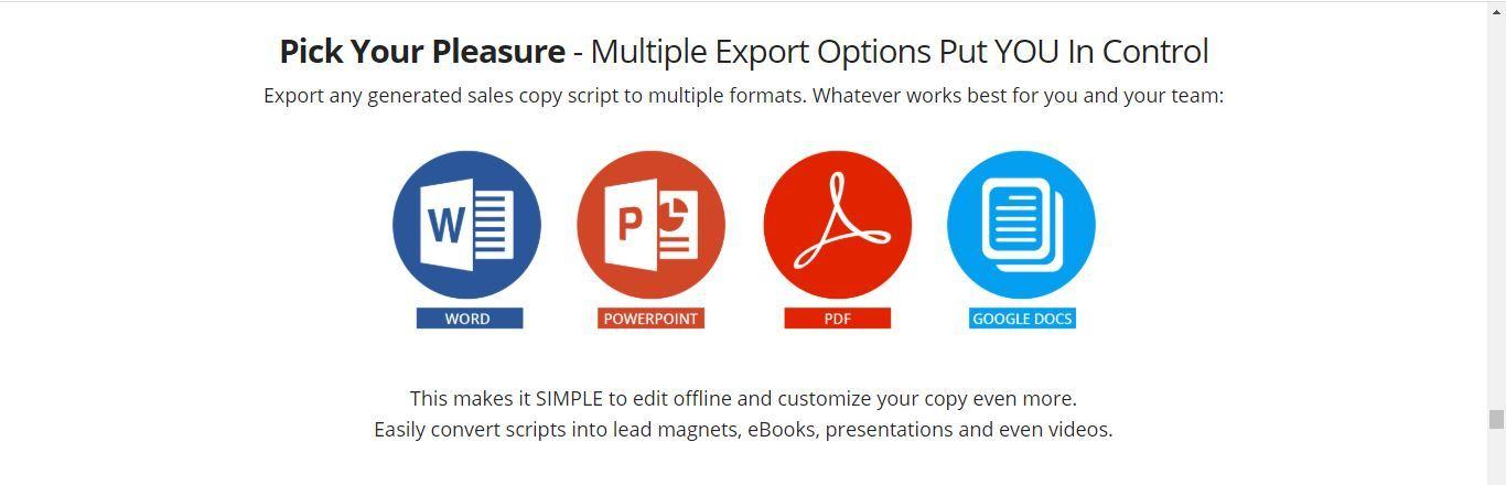 script engage export