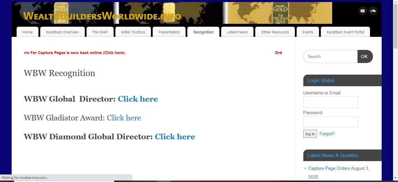 wealth builders worldwide recognition