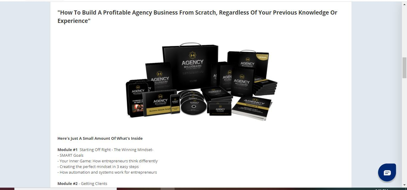 Agency Millionaire Accelerator 1