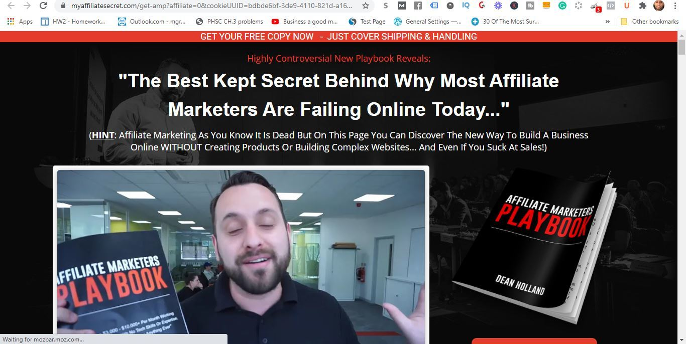 affiliate marketers playbook dean holland
