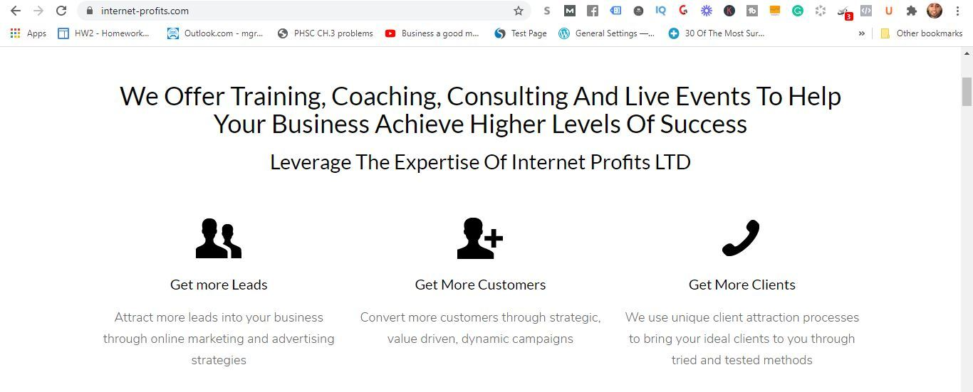 internet profits coaching