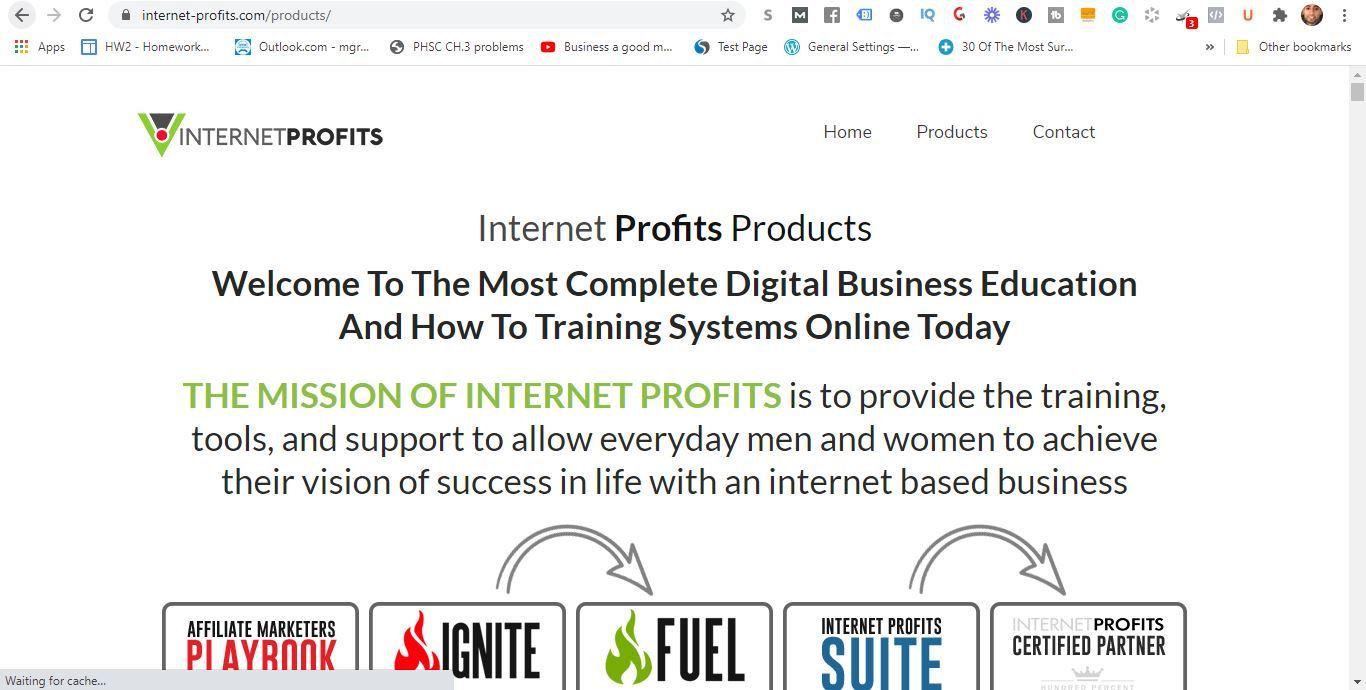 internet profits products