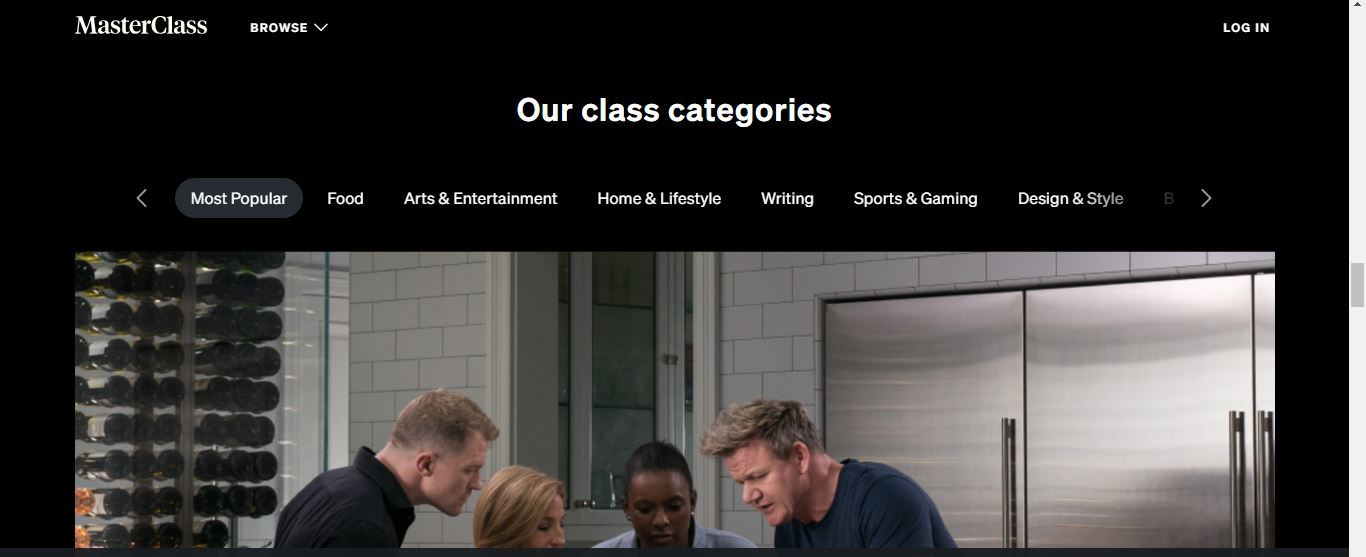 masterclass class categories