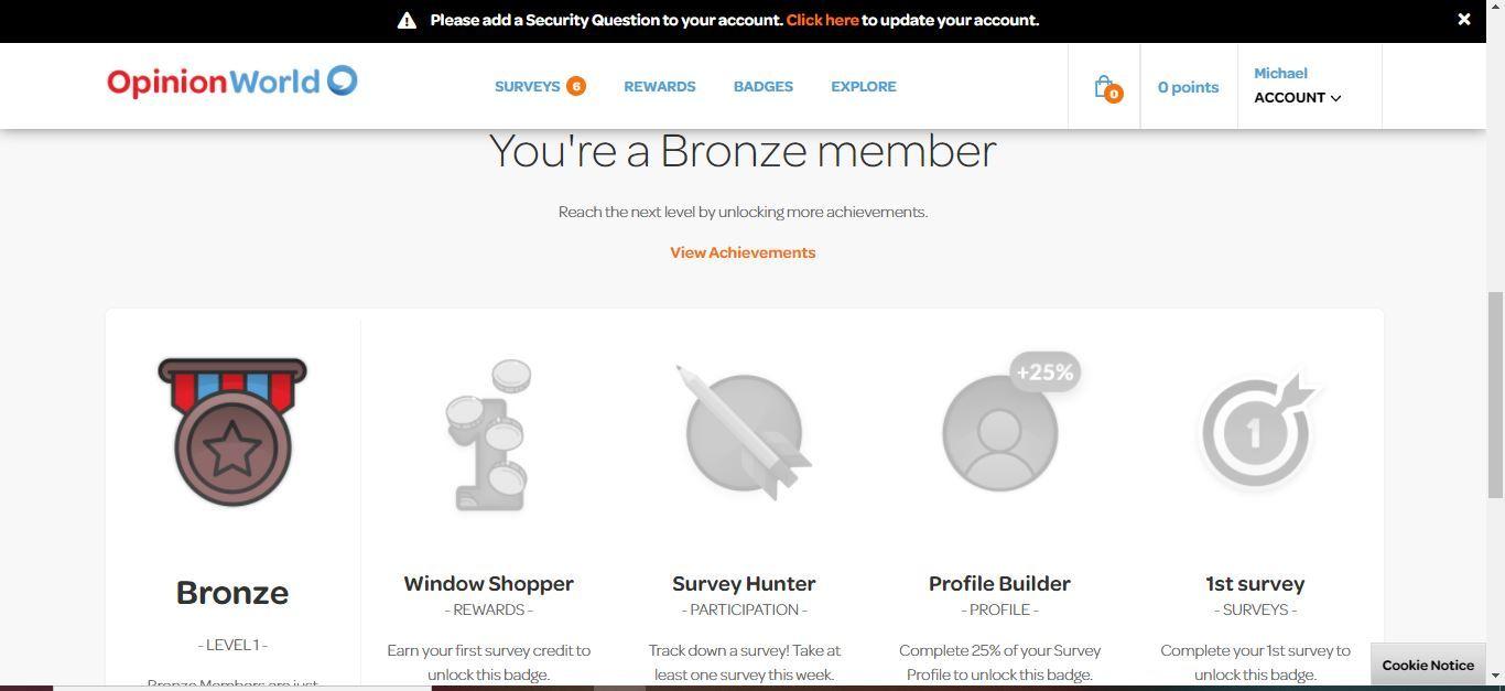 opinion world bronze member